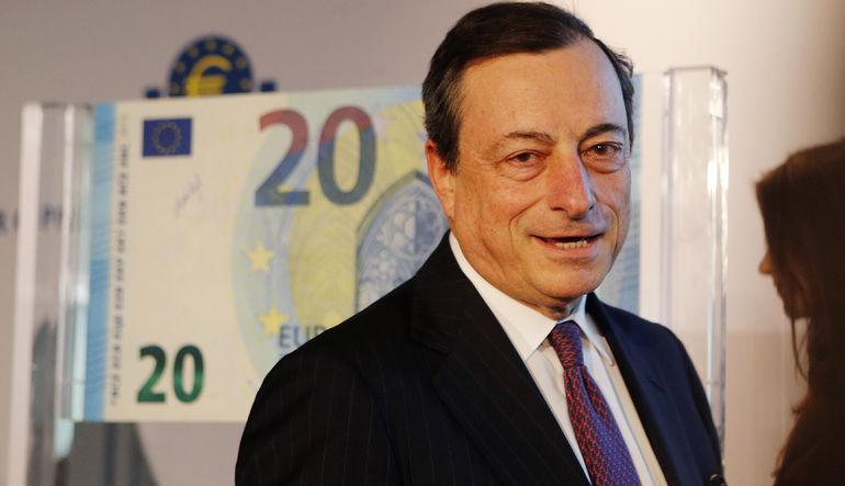 AMB Başkanı yeni 20 Euro'luk banknotu tanıttı