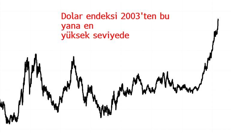 Dolar küresel piyasalarda yükselmeye devam ediyor