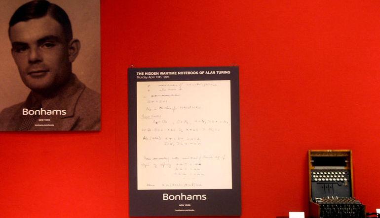 Alan Turing'in not defteri 1 milyon dolara satıldı