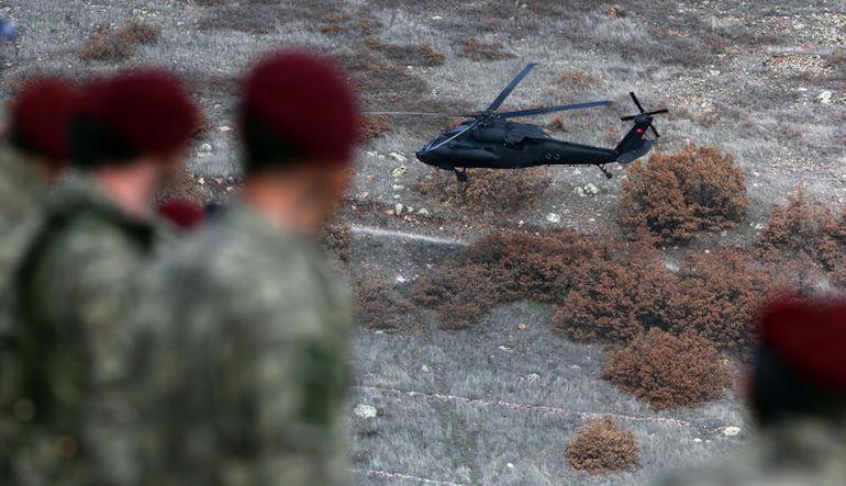 Özel Kuvvetler Komutanı Sezai Aksakal Suriye sınırında