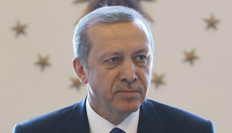 Cumhurbaşkanı Erdoğan, Cumhurbaşkanı Külliyesi'nde muhtarlarla buluştu.