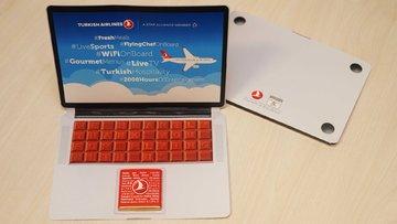 Laptop'ın yasaklandığı THY'den laptop şeklinde çikolata