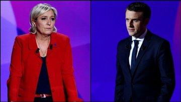 İlk anketlere göre Fransa seçiminde Macron önde