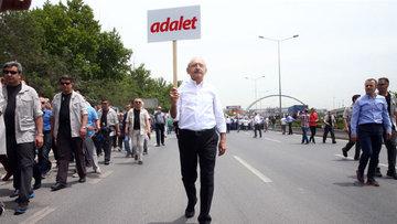CHP lideri Kılıçdaroğlu yürüyüşüne başladı