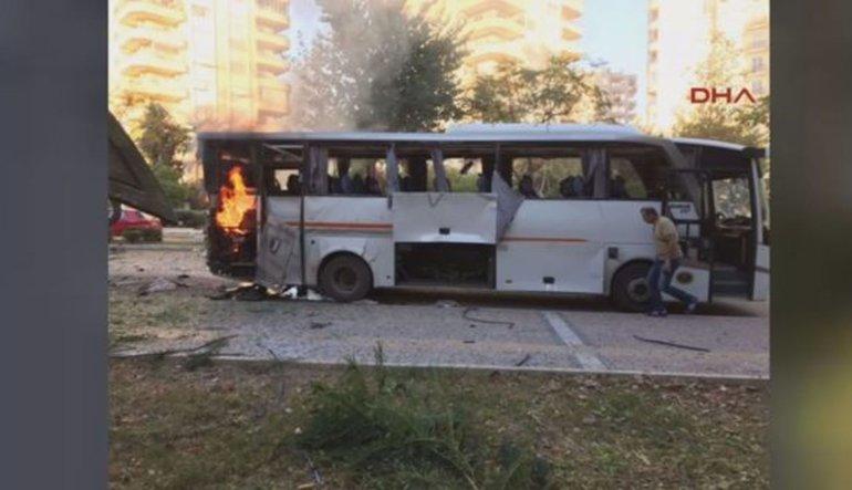 Mersin'de polis aracına saldırı