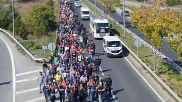 Lüleburgaz cam işçisi İstanbul'a yürüyüşe geçti