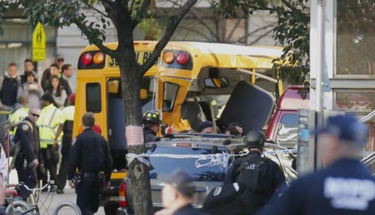 Terör New York'ta 8 can aldı, 15 kişi yaralı