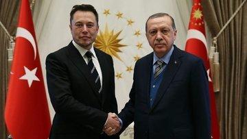 Erdoğan, Elon Musk'la görüştü
