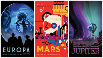 NASA'dan uzay turizmi posterleri